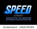 speed style font design ... | Shutterstock .eps vector #1464139283