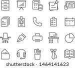 set of office icons  paper ... | Shutterstock .eps vector #1464141623