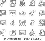 set of training icons  teaching ... | Shutterstock .eps vector #1464141650
