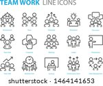 set of meeting icons  such as... | Shutterstock .eps vector #1464141653