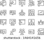set of training icons  teaching ...   Shutterstock .eps vector #1464141656
