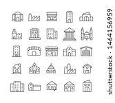 stroke line icons set of...   Shutterstock .eps vector #1464156959