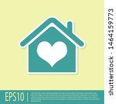 green house with heart shape...   Shutterstock .eps vector #1464159773
