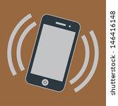 Vector Ringing Smartphone