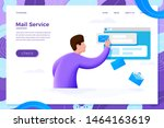 vector illustration mail...   Shutterstock .eps vector #1464163619