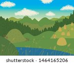 view of mountains. blue sky... | Shutterstock .eps vector #1464165206