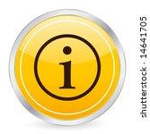 info symbol yellow circle icon. ... | Shutterstock .eps vector #14641705
