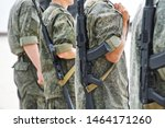 young men armed with automatic ... | Shutterstock . vector #1464171260