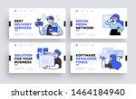 set of presentation slide... | Shutterstock .eps vector #1464184940
