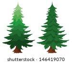 illustration of two evergreen... | Shutterstock .eps vector #146419070