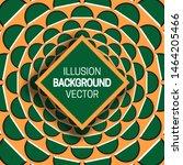 square frame on green orange... | Shutterstock .eps vector #1464205466