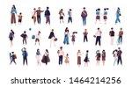 crowd of pupils  school... | Shutterstock . vector #1464214256