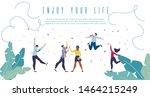 enjoy your life  positive... | Shutterstock .eps vector #1464215249