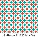Stock photo vintage tile pattern decorative retro green brown and white background 1464217796