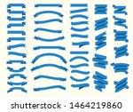 flat vector design blue ribbons ... | Shutterstock .eps vector #1464219860