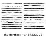pencil lines. texture doodle... | Shutterstock .eps vector #1464233726