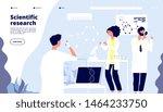 scientific research landing.... | Shutterstock .eps vector #1464233750