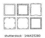 set of hand drawn picture... | Shutterstock .eps vector #146425280