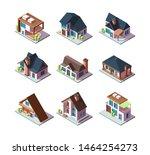 private modern houses. city... | Shutterstock .eps vector #1464254273