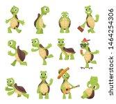 Stock vector cartoon turtles happy funny animals running tortoise vector collection illustration of turtle 1464254306