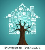 real estate white icon set in... | Shutterstock .eps vector #146426378