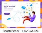 vector illustration social... | Shutterstock .eps vector #1464266723
