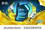 engine oil advertisement... | Shutterstock .eps vector #1464284543