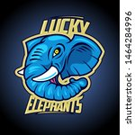 lucky elephants logotype design ... | Shutterstock .eps vector #1464284996