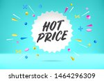 white paper bubble cloud with... | Shutterstock . vector #1464296309