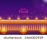 purple shiny lighting bokeh... | Shutterstock .eps vector #1464302939