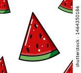 seamless pattern of watermelon...