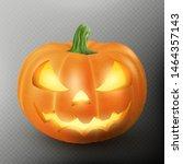 lighten jack o lantern glowing... | Shutterstock .eps vector #1464357143