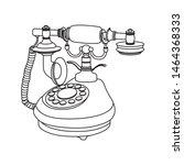 vintage old retro phone in line ...   Shutterstock .eps vector #1464368333