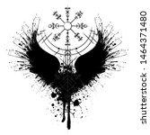 Black Grunge Bird Wings...