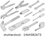 construction tool collection  ... | Shutterstock .eps vector #1464382673
