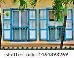 front view of colourful vintage ...   Shutterstock . vector #1464393269