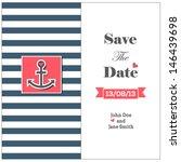 wedding nautical invitation... | Shutterstock .eps vector #146439698