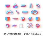 set of 3d geometric shapes... | Shutterstock .eps vector #1464431633