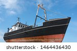Old Fishing Cutter Ashore With...