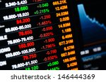 stock market data on led display | Shutterstock . vector #146444369
