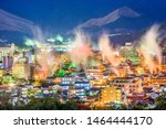 Beppu  Japan Cityscape With Hot ...