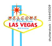 welcome to las vegas sign on... | Shutterstock .eps vector #146445509