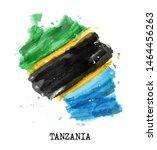tanzania flag watercolor... | Shutterstock .eps vector #1464456263