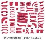 banner ribbon vector set  red... | Shutterstock .eps vector #1464461633