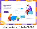 vector illustration online help ... | Shutterstock .eps vector #1464468080