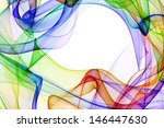 Abstract Colorful Ribbon Waves