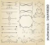 calligraphic design elements.... | Shutterstock .eps vector #146448080