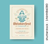 oktoberfest party flyer or... | Shutterstock .eps vector #1464486080