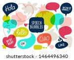 vector speech bubble colorful... | Shutterstock .eps vector #1464496340