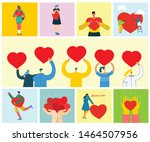 share your love. people with... | Shutterstock .eps vector #1464507956
